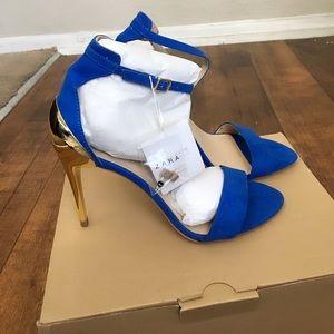 Zara Combination Heels Brand New